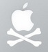 apple skull crossbones sticker