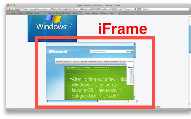 iframe apple