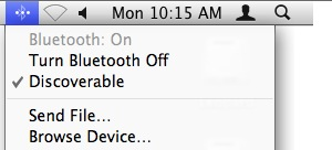 mac bluetooth menu