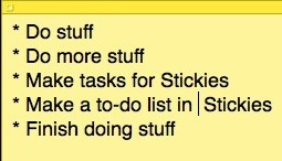 mac todo list - stickies