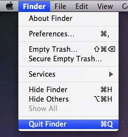 quit finder mac