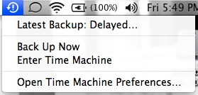 time machine backup delayed