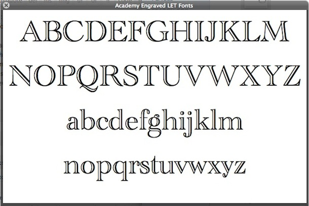 mac font preview