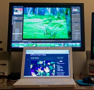 macbook with external monitor