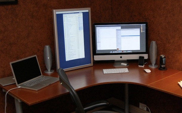 imac and macbook pro vertical monitor