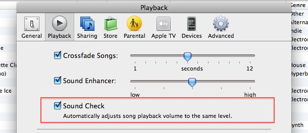 itunes song volume adjustment