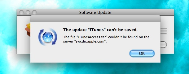 update itunes cant be saved