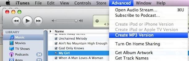 convert song format itunes