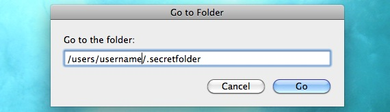 secret folder mac os x