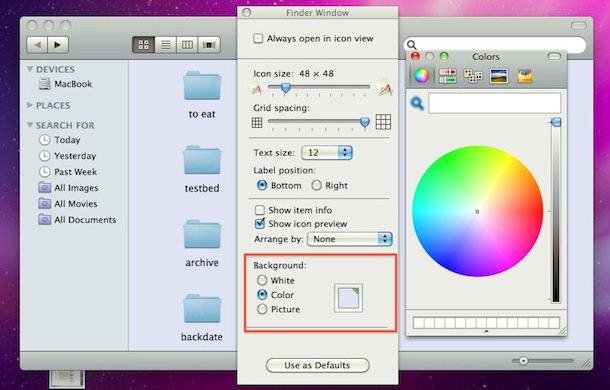 mac window background color