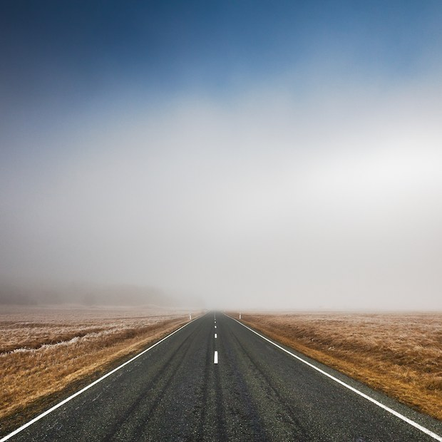 Foggy Road wallpaper
