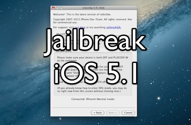 how to jailbreak iphone 5 how to jailbreak ios 5 1 with redsn0w tethered 1131