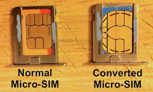 Convert a SIM Card to Micro SIM by Cutting with Scissors ...