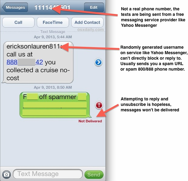 how to block emails iphone how to block spam text messages on the iphone or any phone 17080
